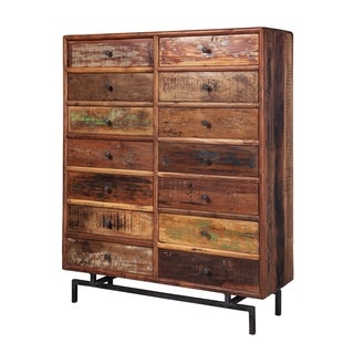 Carbon Loft Aryafar Handmade Mango Reclaimed Wood 14-drawer Chest