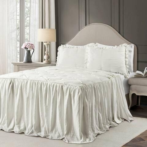 The Gray Barn Lazy Acres Pintuck Ruffle Skirt Bedspread Set
