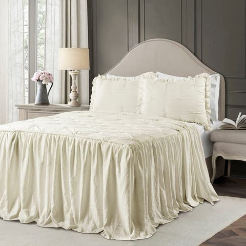 Lush Decor Ravello Pintuck Ruffle Skirt Bedspread Set