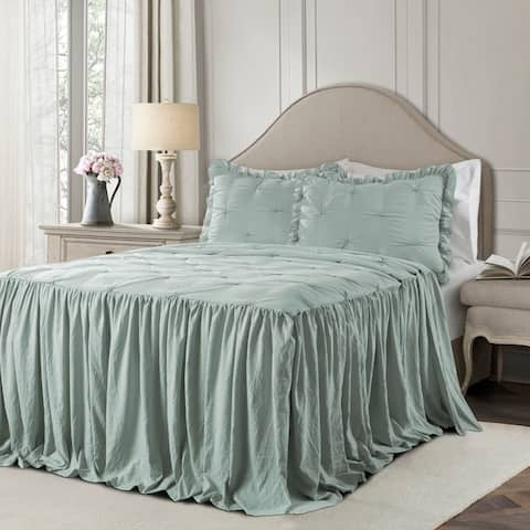 Lush Decor Ravello Pintuck Ruffle Skirt Bedspread Set