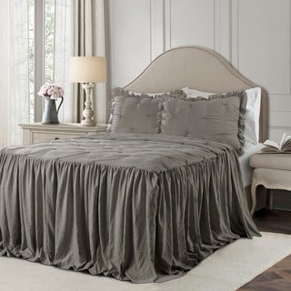 The Gray Barn Lazy Acres Pintuck Ruffle Skirt Bedspread Set