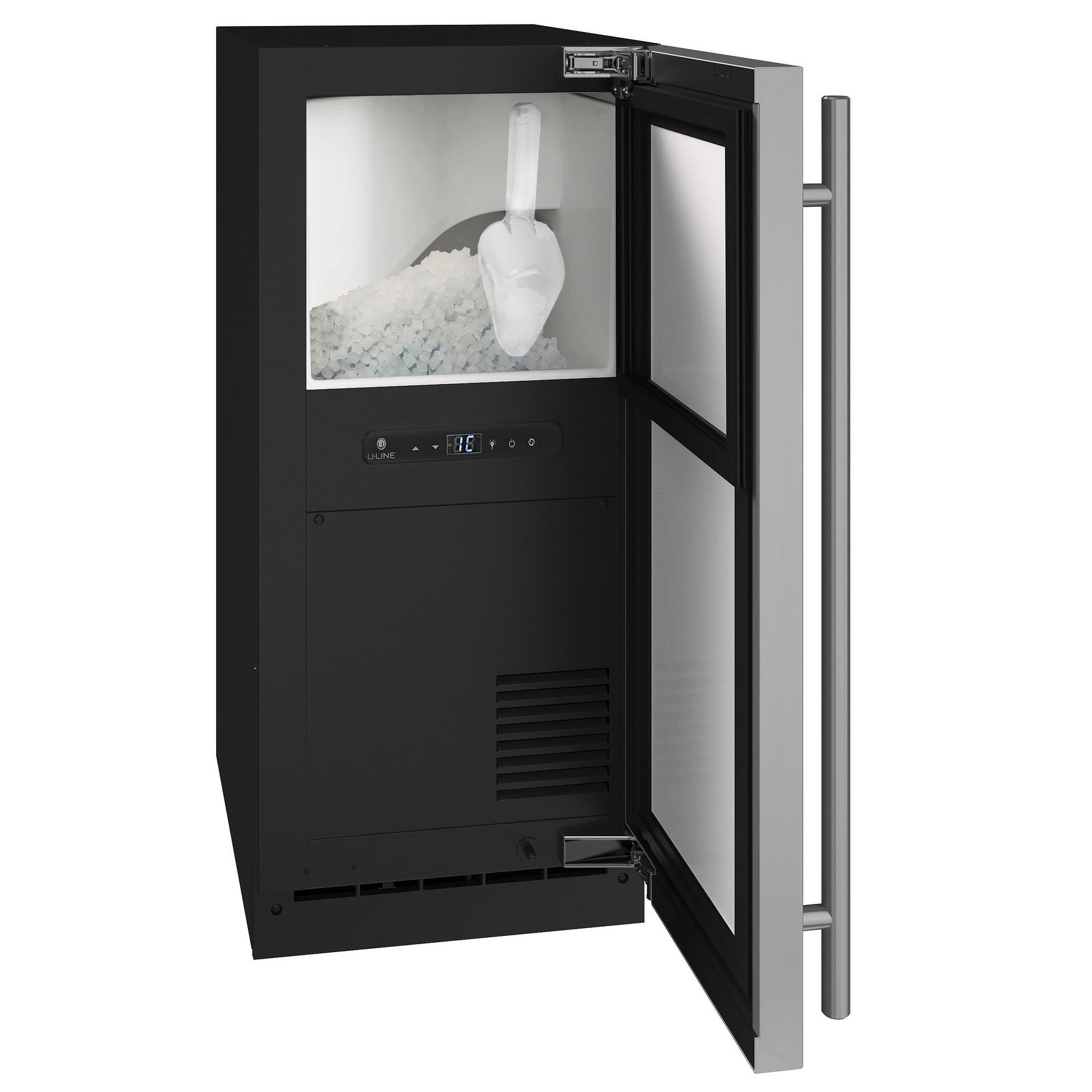 Nugget Ice 15 In Reversible Hinge Stainless 115v