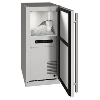 Outdoor Nugget Ice Machine 15 In Reversible Hinge Stainless 115v