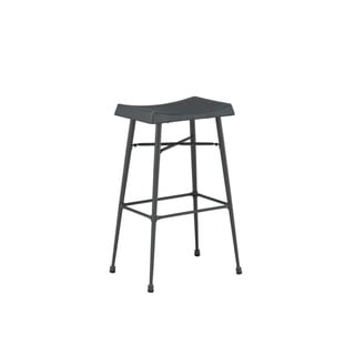 Boraam Carson Backless Grey Metal Barstool