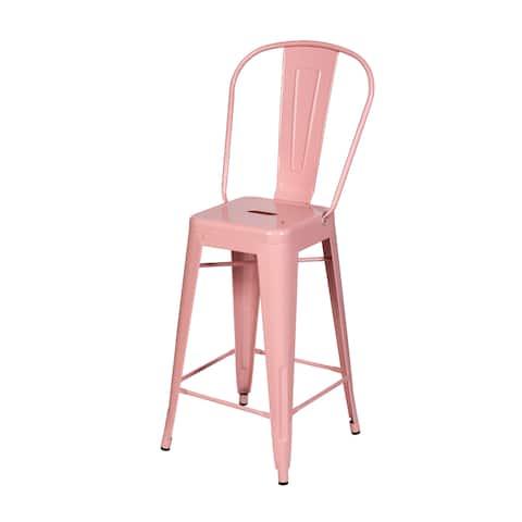Jaime Counter Stool in Pink