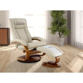 Copper Grove Laurent Recliner with Ottoman and Pillow