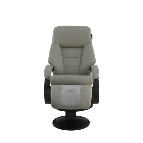 Shop Relax R Montreal Top Grain Leather Recliner And Ottoman