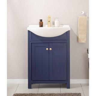 Design Element Marian 24-Inch Blue Single Sink Vanity