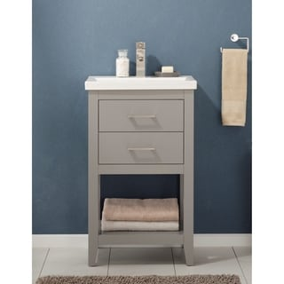 Design Element Cara Grey 20-inch Single Sink Vanity