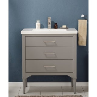 Design Element Mason Grey 30-inch Single Sink Vanity