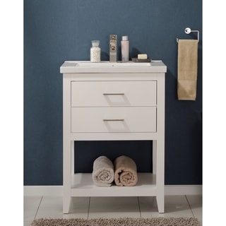 Design Element Cara White Wood 24-inch Single Sink Vanity