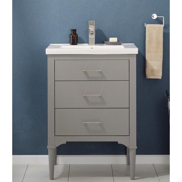 Design Element Mason Grey Wood 24-inch Single-sink Vanity