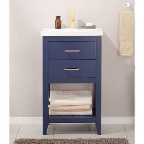 "Design Element Cara 20"" Single Sink Vanity In Blue"