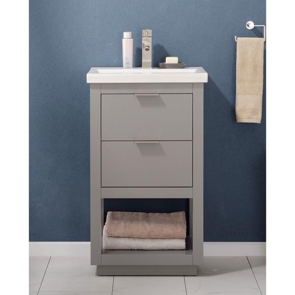 Design Element Grey Klein 20-inch Single Sink Vanity