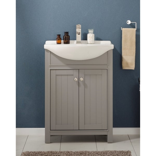 Design Element Marian Grey Wood 24-inch Single Sink Vanity
