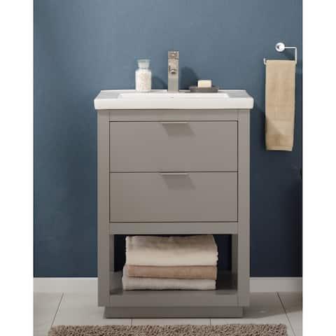 "Design Element Klein 24"" Single Sink Vanity In Gray"