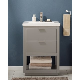 Design Element Klein Grey Wood/Ceramic 24-inch Single Sink Vanity