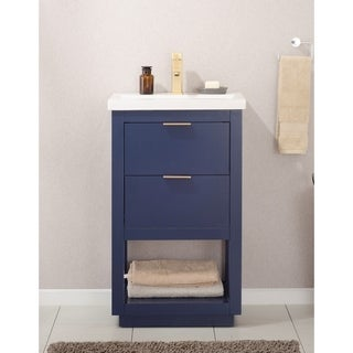 Design Element Klein Blue Wood 20-inch Single Sink Vanity