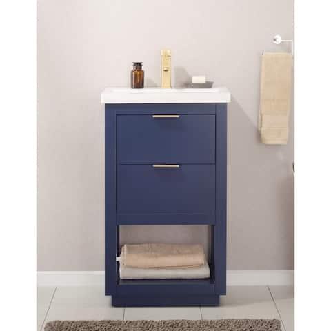 Blue Bathroom Vanity 42 Inch