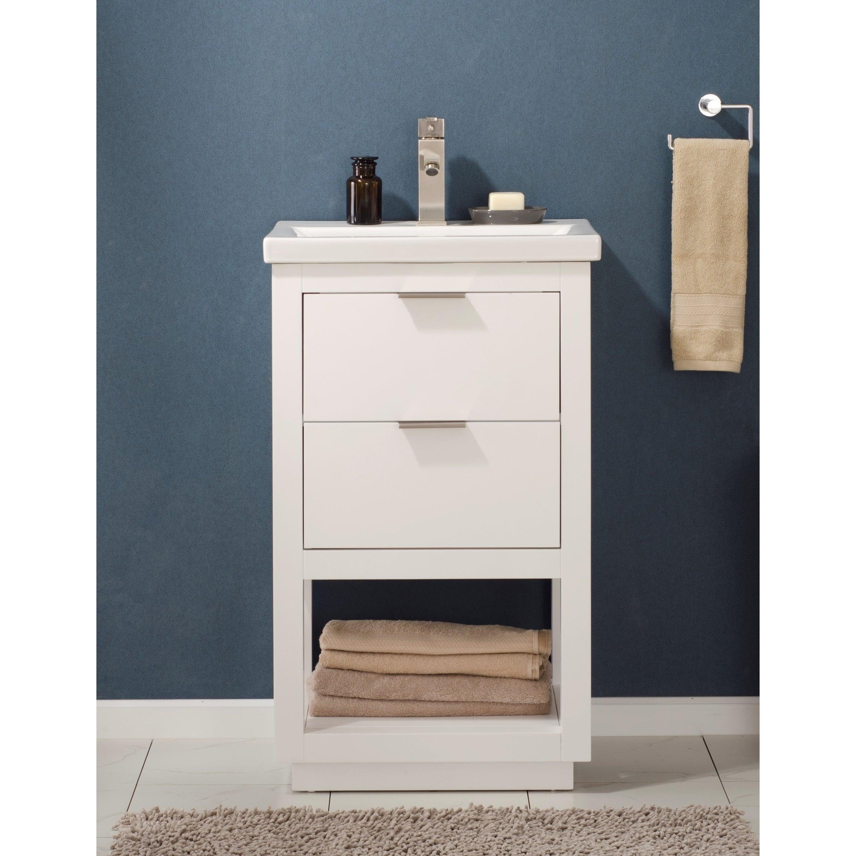 Design Element Klein 20 Single Sink Vanity In White Overstock 28077650