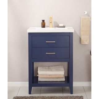 Design Element Cara 24-inch Blue Single Sink Vanity