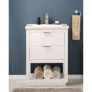 Design Element Klein White Single Sink Vanity