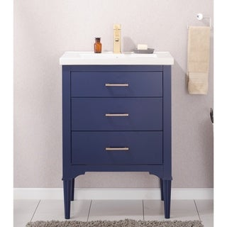Design Element Mason Blue Wood/Ceramic 24-inch Single Sink Vanity
