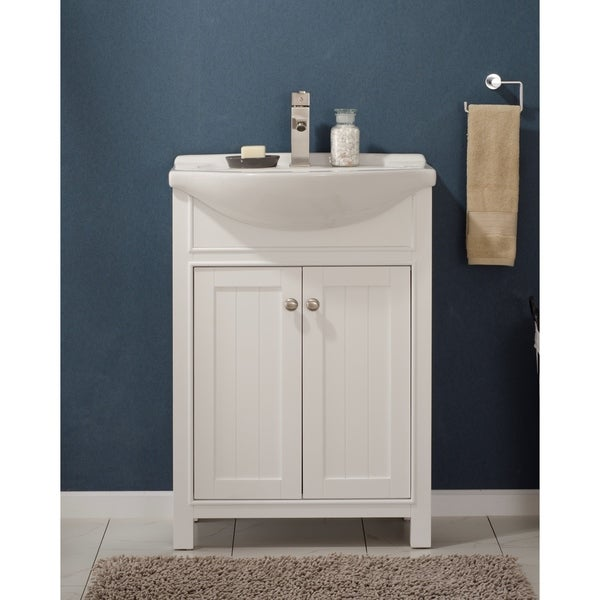 Design Element Marian 24-inch White Wood Single Sink Vanity