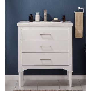 Design Element Mason White Single Sink Vanity