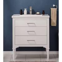 Design Element Mason White Single Sink Vanity