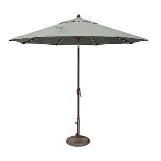 SimplyShade Lanai Pro 9 Octagon Auto Tilt Umbrella with Starlights (Spa - Sunbrella Canopy)