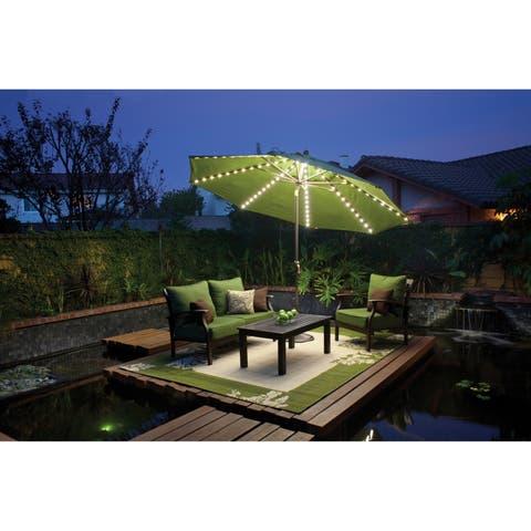 SimplyShade Lanai Pro 11' Octagon Auto Tilt Umbrella with Starlights