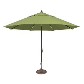 SimplyShade Lanai Pro 11 Octagon Auto Tilt Umbrella with Starlights (Ginkgo - Sunbrella Canopy)