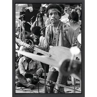 Framed lithograph Jimi Hendrix