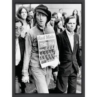 Framed lithograph John Lennon