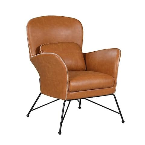 Somette Camel Accent Chair with Steel Frame