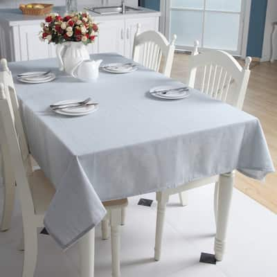 """Enova Home 54""""x 78"""" Light Blue High Quality Rectangle Cotton and Linen Tablecloth Table Cover"""