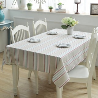 """Enova Home 54""""x 78"""" Beige High Quality Thicken Rectangle 100% Cotton Tablecloth Table Cover"""