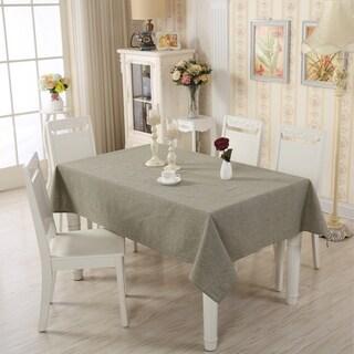 "Enova Home 54""x 78"" Light Green Rectangle Cotton and Linen Tablecloth Table Cover"