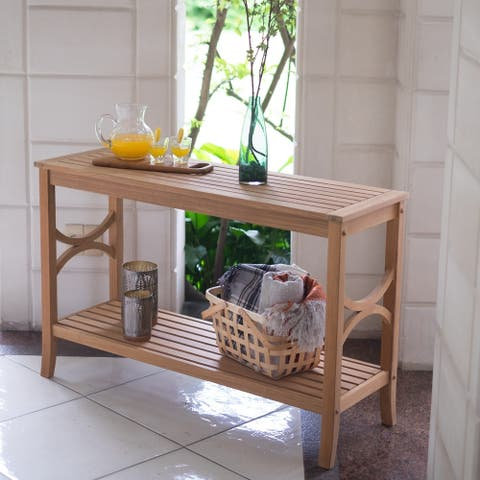 Lowell Teak Patio Console Table by Havenside Home