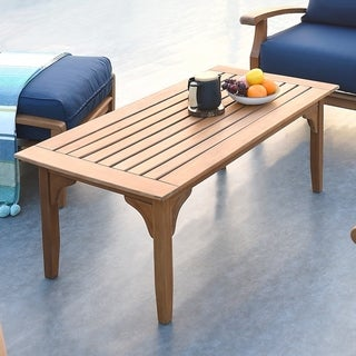Havenside Home Leon Teak Patio Coffee Table