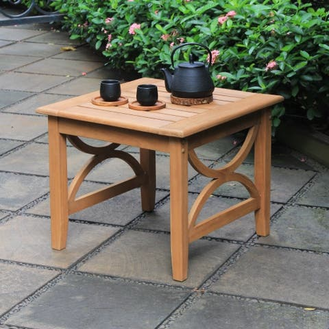 Lowell Teak Patio Side Table by Havenside Home