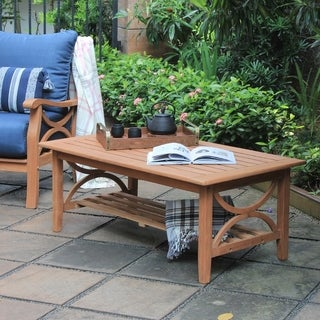 Havenside Home Lowell Teak Patio Coffee Table