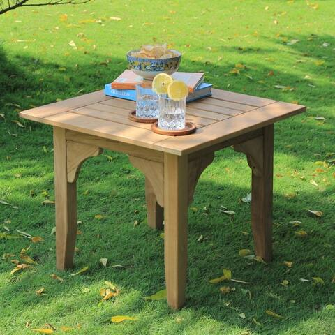 Cambridge Casual Auburn Teak Patio Side Table