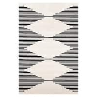 Poly and Bark Mekko Area Rug in Mist White