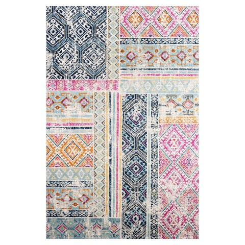 Poly and Bark Tangier Distressed 8'x10' Area Rug in Multicolor - 8 x 10