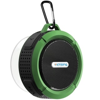 VicTsing Shower Speaker Wireless Waterproof Speaker with 5W Driver Suction Cup Built in Mic hands free Speakerphone for Outdoors (Green)
