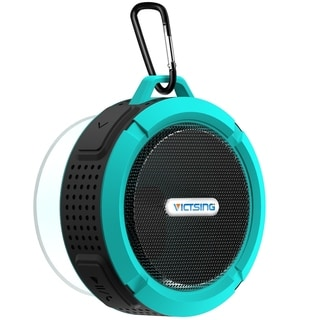 VicTsing Shower Speaker Wireless Waterproof Speaker with 5W Driver Suction Cup Built in Mic hands free Speakerphone for Outdoors (Blue)