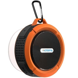 VicTsing Shower Speaker Wireless Waterproof Speaker with 5W Driver Suction Cup Built in Mic hands free Speakerphone for Outdoors (Orange)