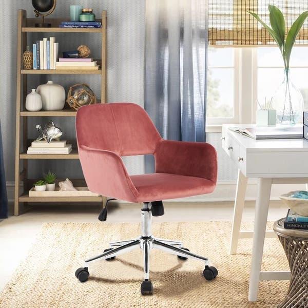 Cool Shop Porch Den Sabrina Velvet Home Office Swivel Chairs Theyellowbook Wood Chair Design Ideas Theyellowbookinfo